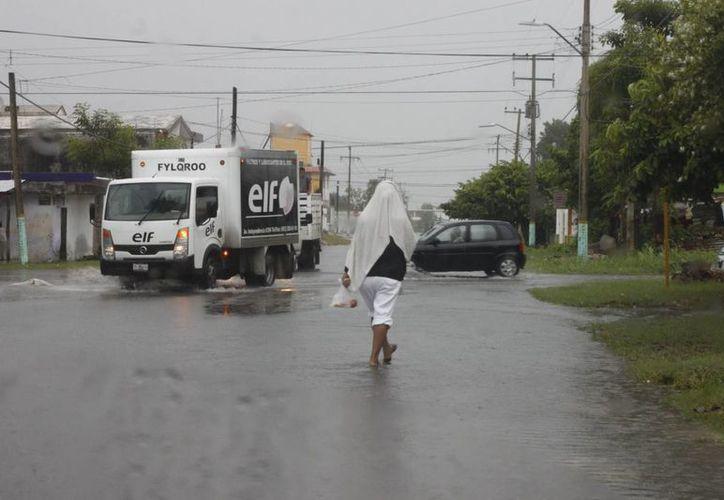 Prevén que las lluvias puedan prolongarse hasta el domingo o lunes próximo. (Harold Alcocer/SIPSE)