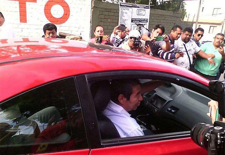 Rubén Núñez, dirigente de la Sección 22 de la CNTE, fue liberado esta mañana. (Excélsior)