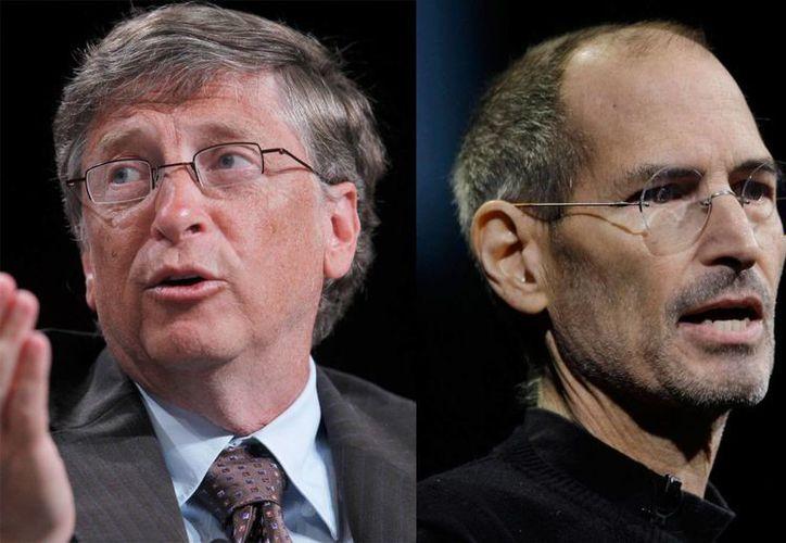 Bill Gates (i) y Steve Jobs aparecen en el primer capítulo de la miniserie 'Mentes brillantes', que se estrenará en Nat Geo este domingo. (Foto de archivo de AP)