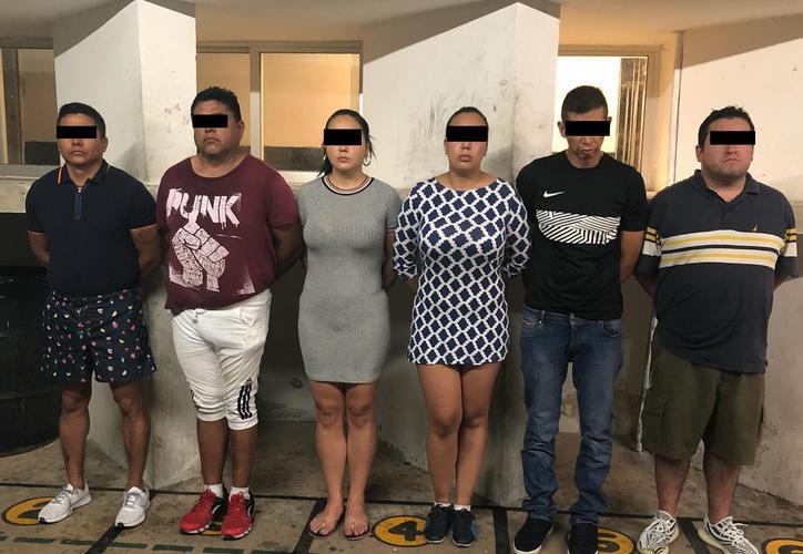Los seis integrantes de la banda de ladrones. (Archivo)
