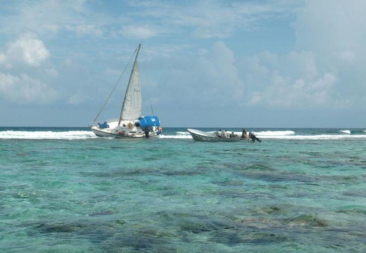 'El Empacador VI' encalló en la barrera arrecifal del Parque Nacional Arrecife Alacranes. Es el segundo accidente en la zona en menos de un mes. (Foto de contexto. Archivo/SIPSE)