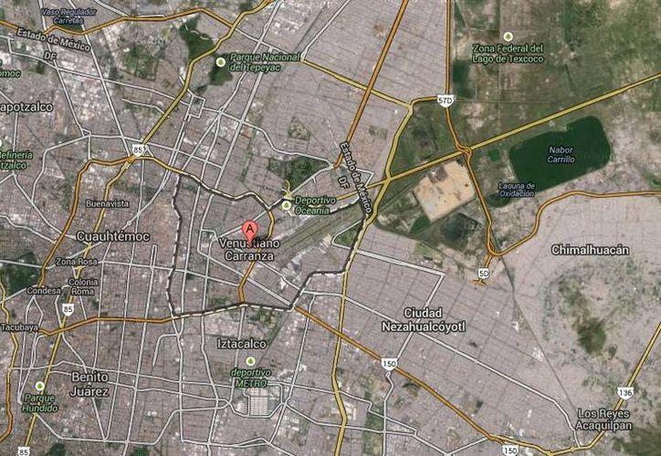 Uno de los federales baleados en la delegación Venustiano Carranza falleció y el otro está grave. (Google Maps)