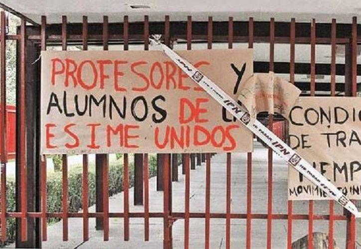 Los alumnos del IPN revelaron que la mayoría de las escuelas de estudios superiores están tomadas. (Milenio)