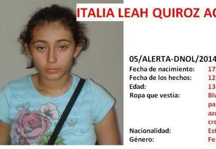 Italia Leah Quiroz Aceves se preparaba para regresar a EU con su familia cuando se extravió. (oaxaca.me)