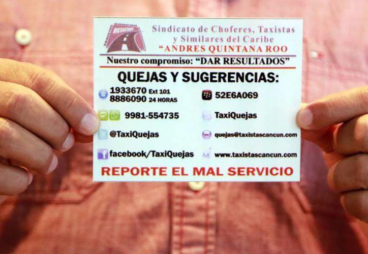 Invitan a denunciar el mal servicio de los taxistas. (Luis Soto/SIPSE)