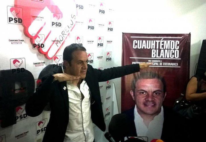 El presidente de la Canaco en Cuernavaca, Alejandro Uribe García, dijo que ha invitado a representantes del PAN, PRI y PRD a una reunión, pero no al PSD ni a su representante Cuauhtemoc Blanco. (onurbados.com)