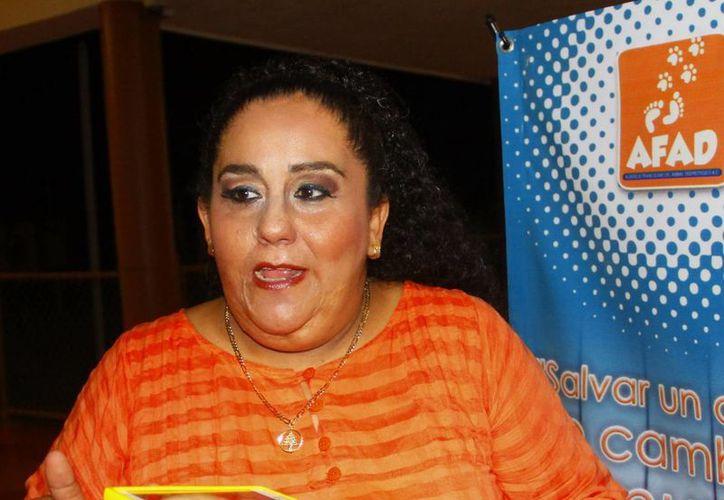 Uno de los premios será para Afad, presidido por Lidia Saleh Angulo. (Milenio Novedades)