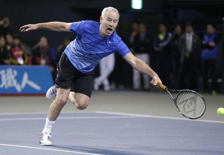 John Mc Enroe y otras leyendas del tenis mundial competirán en Monterrey, en el torneo de leyendas que se disputará en la misma semana que el 'ATP Challenger'. (AP)