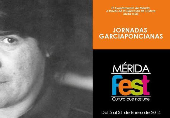 Cartel invitación de las Jornadas García Poncianas que se inauguran este viernes. (Cortesía)