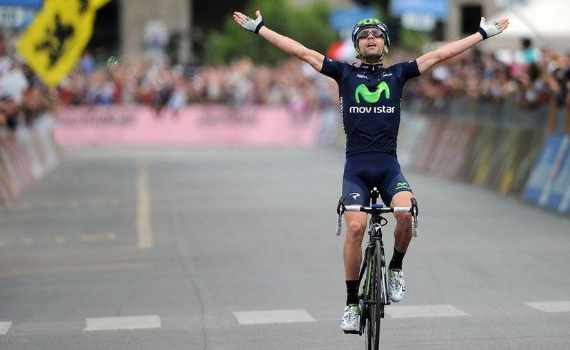 Visconti se había proclamado campeón de la etapa 15 del Giro de Italia. Aquí festeja su triunfo en la 17. (EFE)