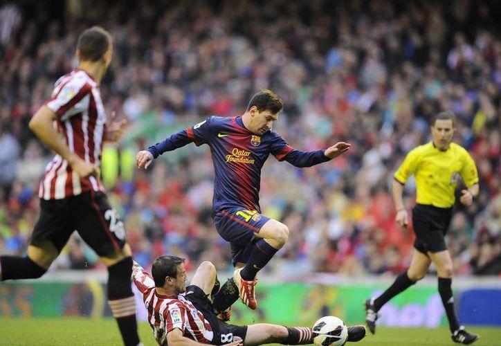 Messi colaboró para que el Barça nu fuera derrotado. (Foto: Agencias)