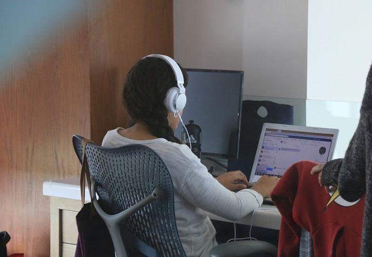 Los jóvenes han encontrado motivación en el campo tecnológico a través de las historias de vida de otros desarrolladores. (Harold Alcocer/SIPSE)