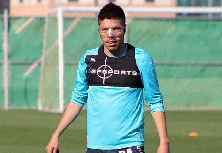 Peralta continúa sus entrenamientos con el Santos Laguna con vistas a regresar a la cancha. (mediotiempo.com)