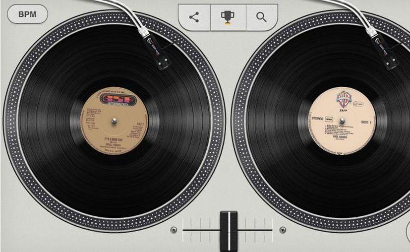Con el doodle, puedes  interactuar con diferentes pistas que son importantes para la historia de la música. (Foto: Captura)