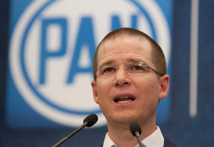 """Ricardo Anaya emitió un mensaje para decirle a Margarita Zavala  que la división de este partido """"sólo le sirve al PRI"""". (Eduardo Miranda/Proceso)."""