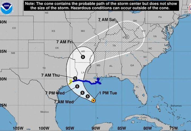 Cindy se ubica a 430 kilómetros al sur de Morgan, Louisiana, Estados Unidos. (Noticieros Televisa)