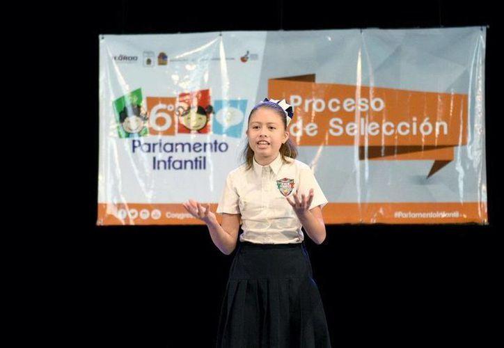 Dana Cristina Alvarado Góngora fue nombrada Diputada Infantil del Distrito Uno. (Redacción/SIPSE)