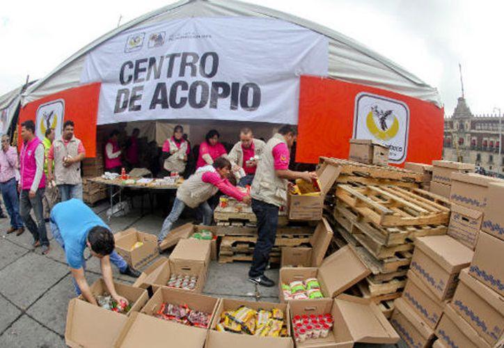 Se parará la recolección de ayuda para los afectados del sismo. (Foto: Contexto Internet)