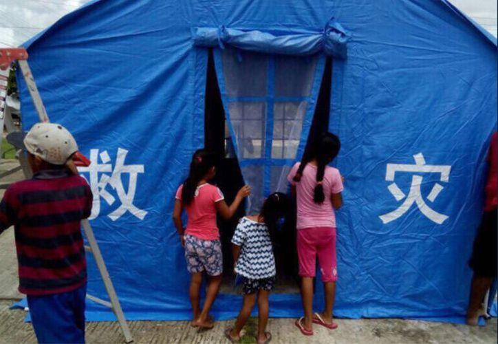 La cancillería de México informó que continúa llegando ayuda de China al país.  (Twitter: @SRE_mx)