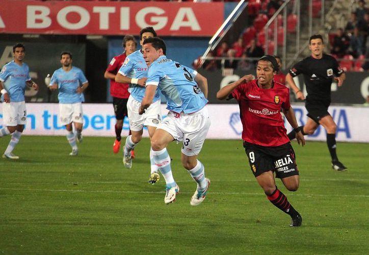 Dos Santos disputó los 90 minutos del encuentro del Mallorca ante Celta de Vigo.(rcdmallorca.es)