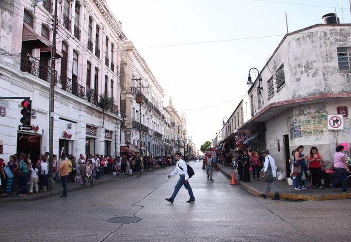 En el centro de Mérida están las calles con el valor catastral más alto de todo el municipio. (Jorge Acosta/SIPSE)